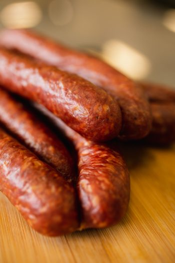 Try our famous farmer sausage