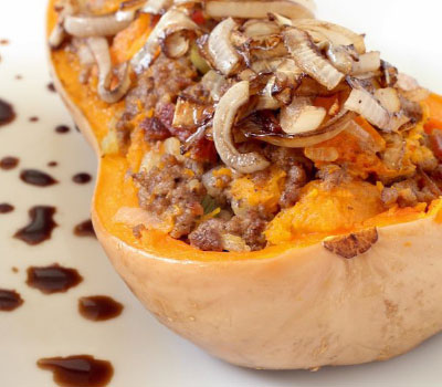 Try this great bacon beef butternut squash recipe